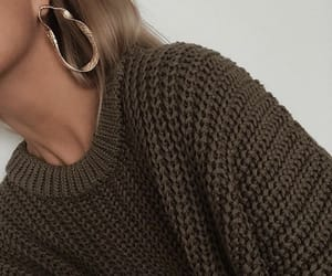 earings, gold, and sweater image
