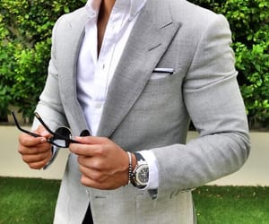 formal, suit, and grey image
