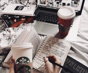 coffee, starbucks, and book image