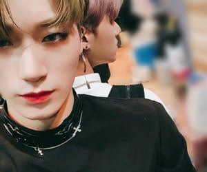 san, ateez, and wooyoung image