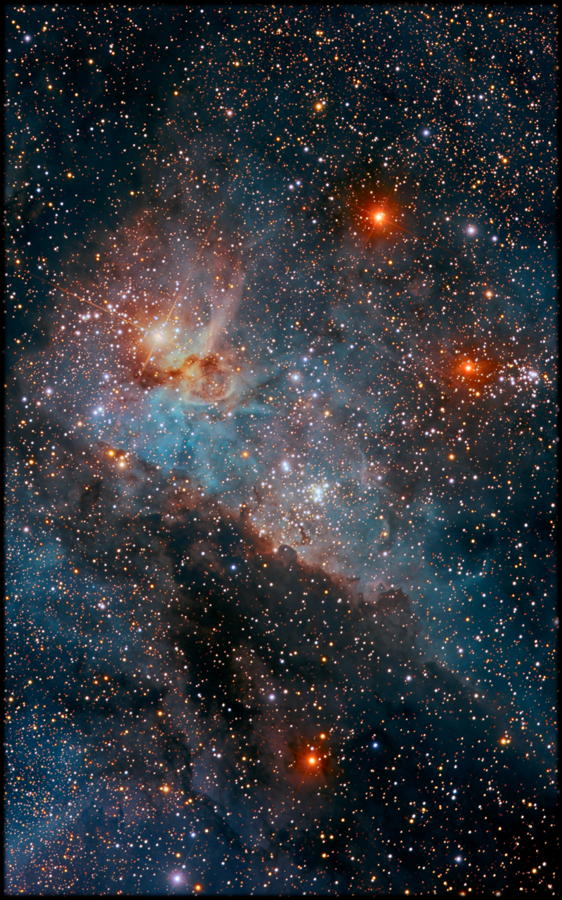 Keyhole Nebula In Carina In Near Infrared By Rolf Wahl Ol