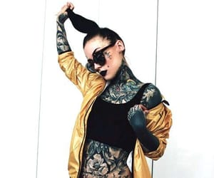 model, tattoed girl, and Tattoos image