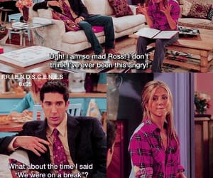 anger, cheating, and rachel green image