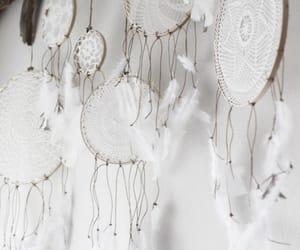 white, Dream, and dreamcatcher image