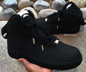 air force 1, beautiful, and black image