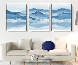 abstract art, etsy, and mountains image