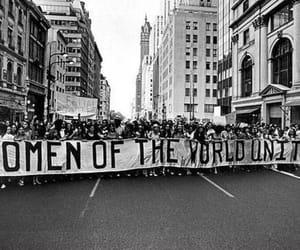 protest, feminism, and unite image