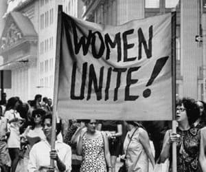 b&w, protest, and unite image