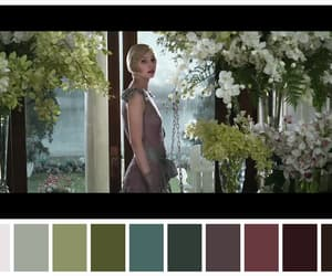 Carey Mulligan, color palette, and flowers image