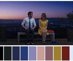 color palette, emma stone, and evening image