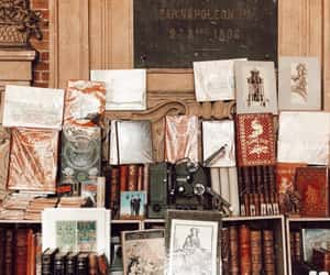 art, artistic, and books image