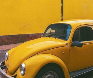 car, yellow, and old image
