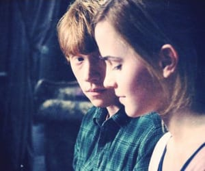 harrypotter, ronweasley, and hermionegranger image