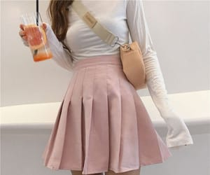 outfit, pastel, and skirt image