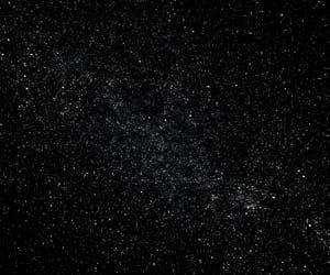 black, sky, and stars image
