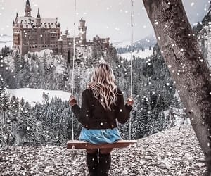 blonde, castle, and fashion image