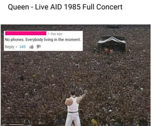 freddy mercury, Queen, and live aid image