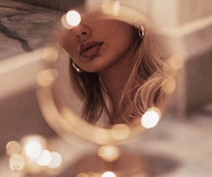 mirror, girl, and lips image