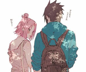 sasusaku, naruto, and sasuke uchiha image