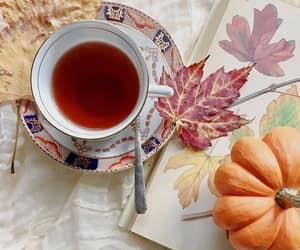 afternoon tea, autumn, and dessert image