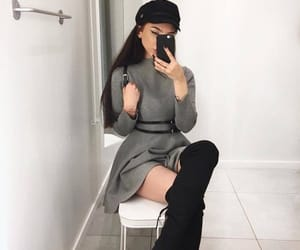 classy, outfit, and overknees image