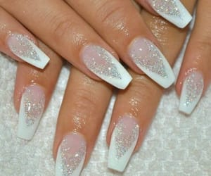 nails, white, and sparkle image