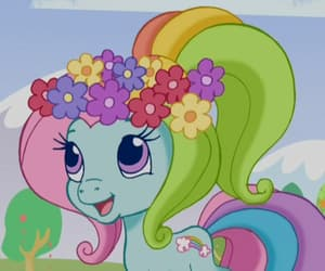 flower crown, MLP, and rainbow dash image