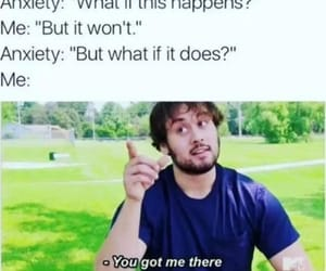 funny, anxiety, and lol image