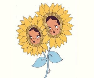 flower, sunflower, and valfre image