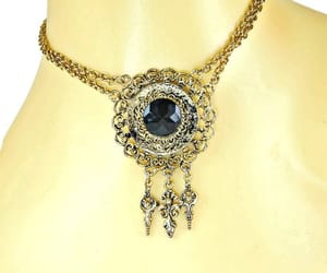 etsy, medallion, and antiqued gold image