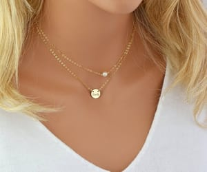 etsy, freshwater pearl, and minimal necklace image