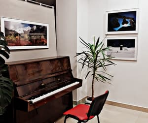 chair, piano, and pictures image