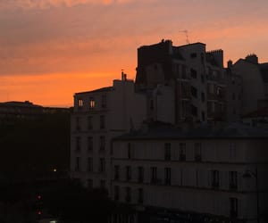 black, buildings, and evening image