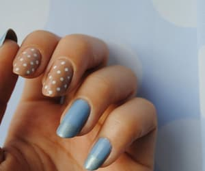 blue, dots, and Nude image