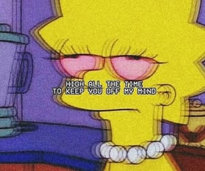 the simpsons, grunge, and high image