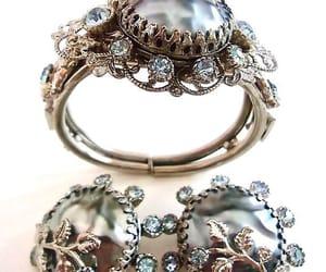 etsy, bracelet earring set, and designer jewelry set image