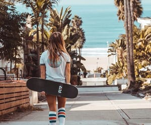 board, girl, and skater image