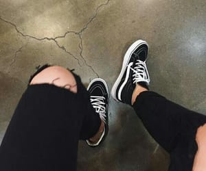 black, fashion, and vans image