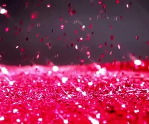 gif, red, and pink glitter image