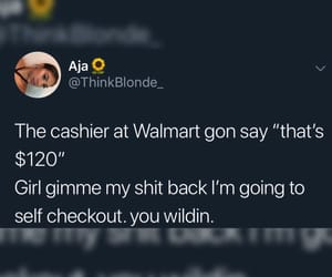 cashier, funny, and twitter image