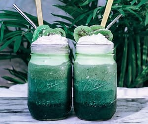 green cold drinks