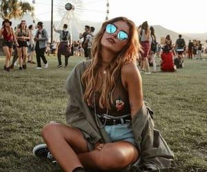 girl, festival, and coachella image