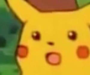 meme, reaction, and pikachu image