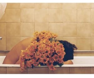 bathroom, florals, and flowers image