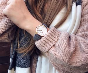 hair, watch, and winter image