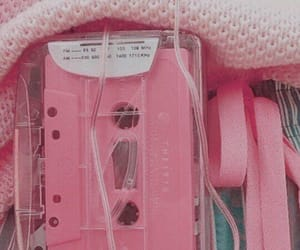 aesthetic, pink, and cassette image