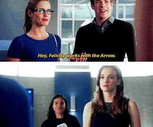 the flash, barry allen, and felicity smoak image