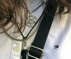 brown hair, chains, and lucifer image