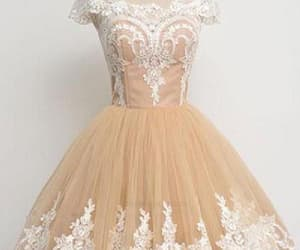 short prom dress, lace homecoming dresses, and prom dress ball gown image