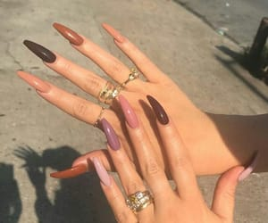girls, long nails, and nail image